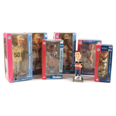 Players Inc. Reggie Bush, Ben Roethlisberger, Hines Ward, Football Bobbleheads