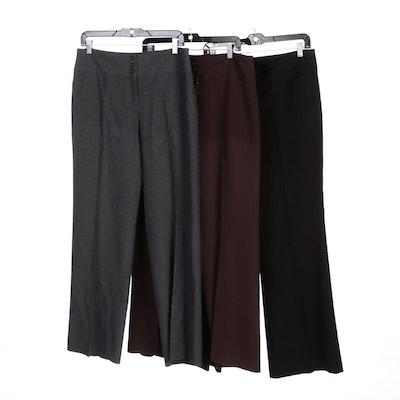 Style & Co. Gray and Brown Dress Pants with Rafaella Black Dress Pants