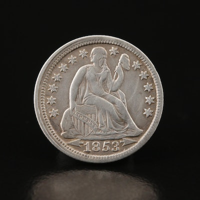 1853 Liberty Seated Silver Dime
