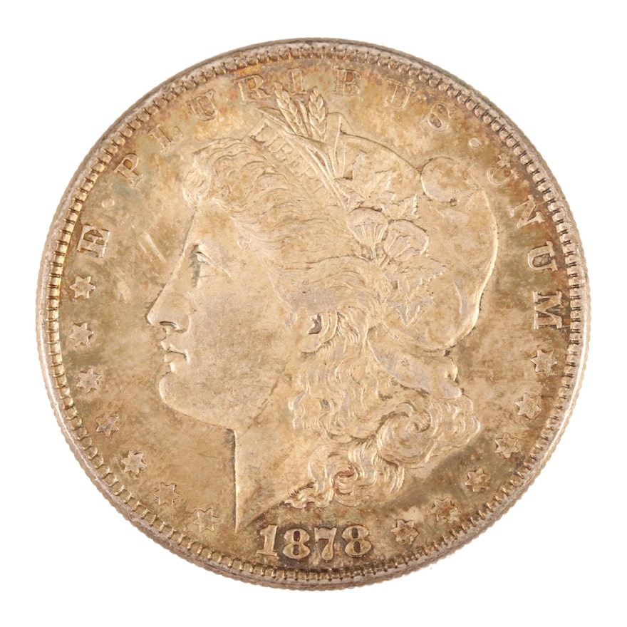 1878 Morgan Silver Dollar, Eight Tail-Feathers Variety
