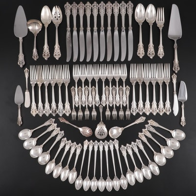 "Wallace ""Grande Baroque"" Sterling Silver Flatware and Serving Utensils"