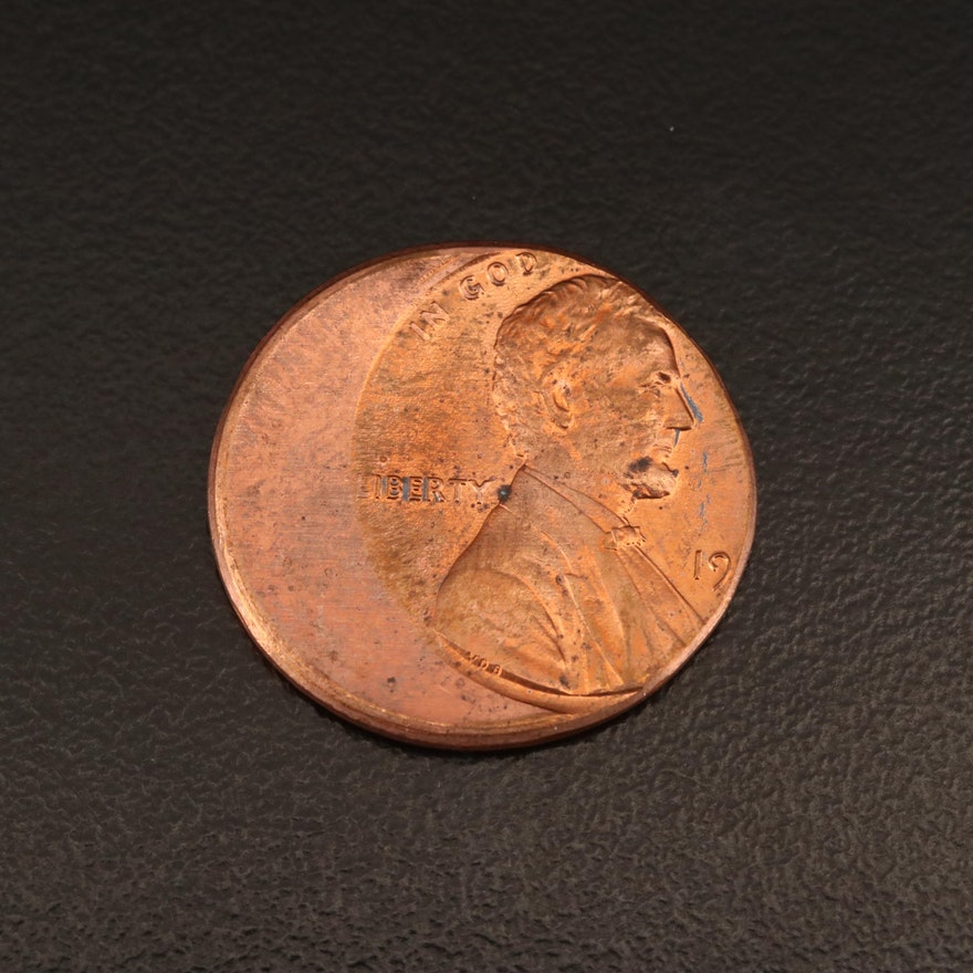 Lincoln Cent Off-Center Error Coin