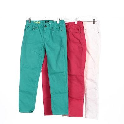 J. Crew Toothpick and Big Star 1974 Stretch Jeans