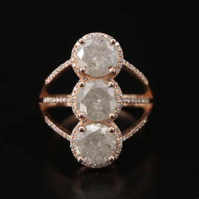 14K 4.20 CTW Diamond Ring