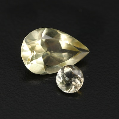 Loose 5.44 CTW Faceted Citrines