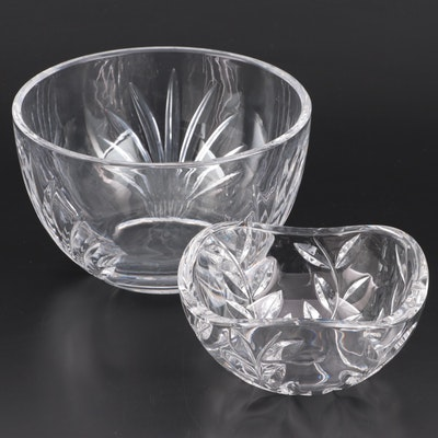 "Tiffany & Co. ""Floral Vine"" and Other Tiffany Crystal Bowl"