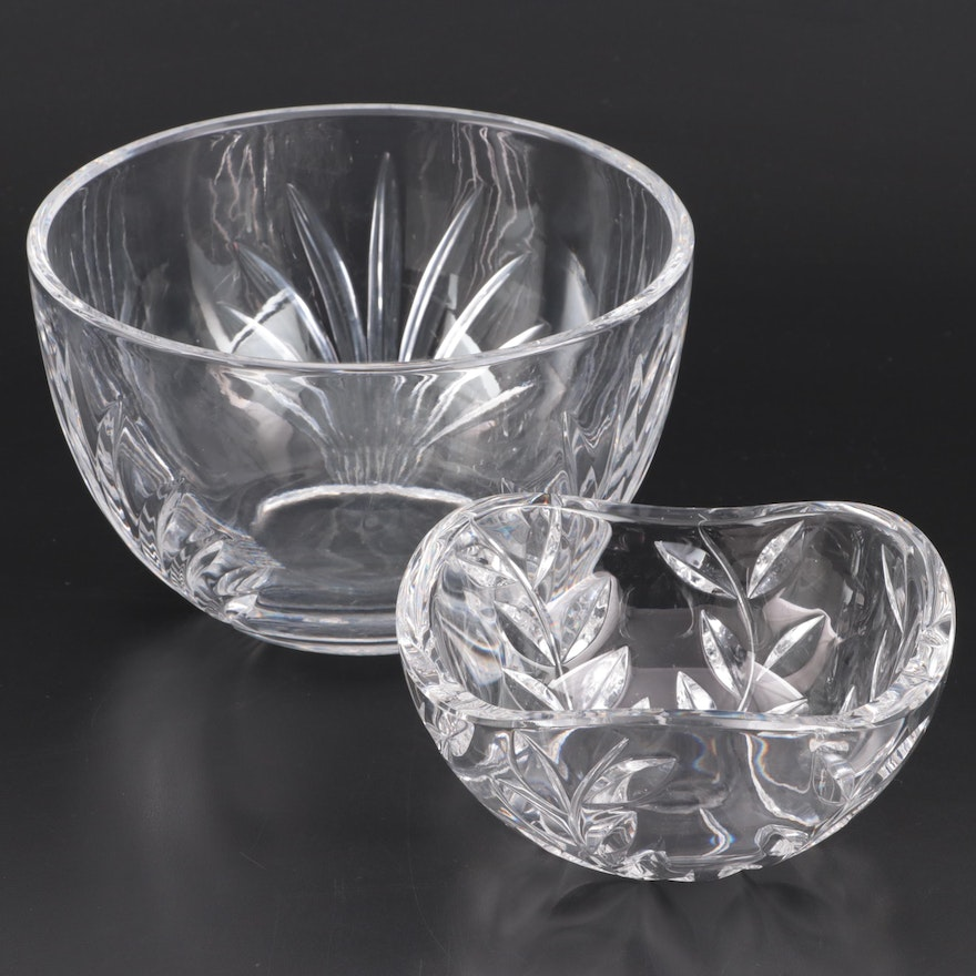 """Tiffany & Co. """"Floral Vine"""" and Other Tiffany Crystal Bowl"""