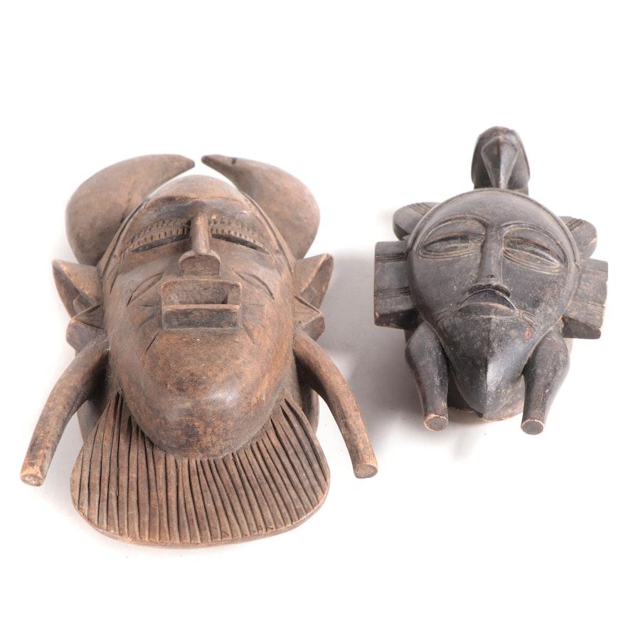 Senufo Style Wooden Masks, West Africa