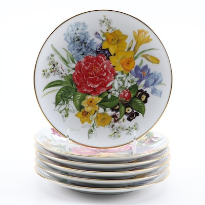 """Ursula Band for Hutschenreuther """"Flower Dreams Collection"""" Collector Plates"""