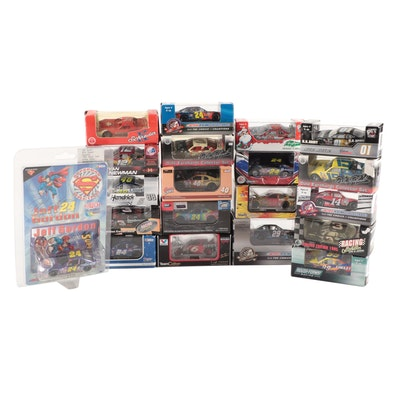 Earnhardt Sr., Gordon, Newman, Martin, Johnson, and Other NASCAR Diecast Cars