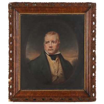 "Oil Painting after Sir Henry Raeburn ""Portrait of Sir Walter Scott"""