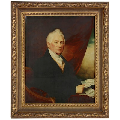 Portrait Oil Painting after Gilbert Stuart, Early 20th Century