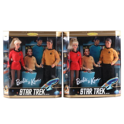 "Mattel Barbie and Ken ""Star Trek"" Gift Set, Late 20th Century"