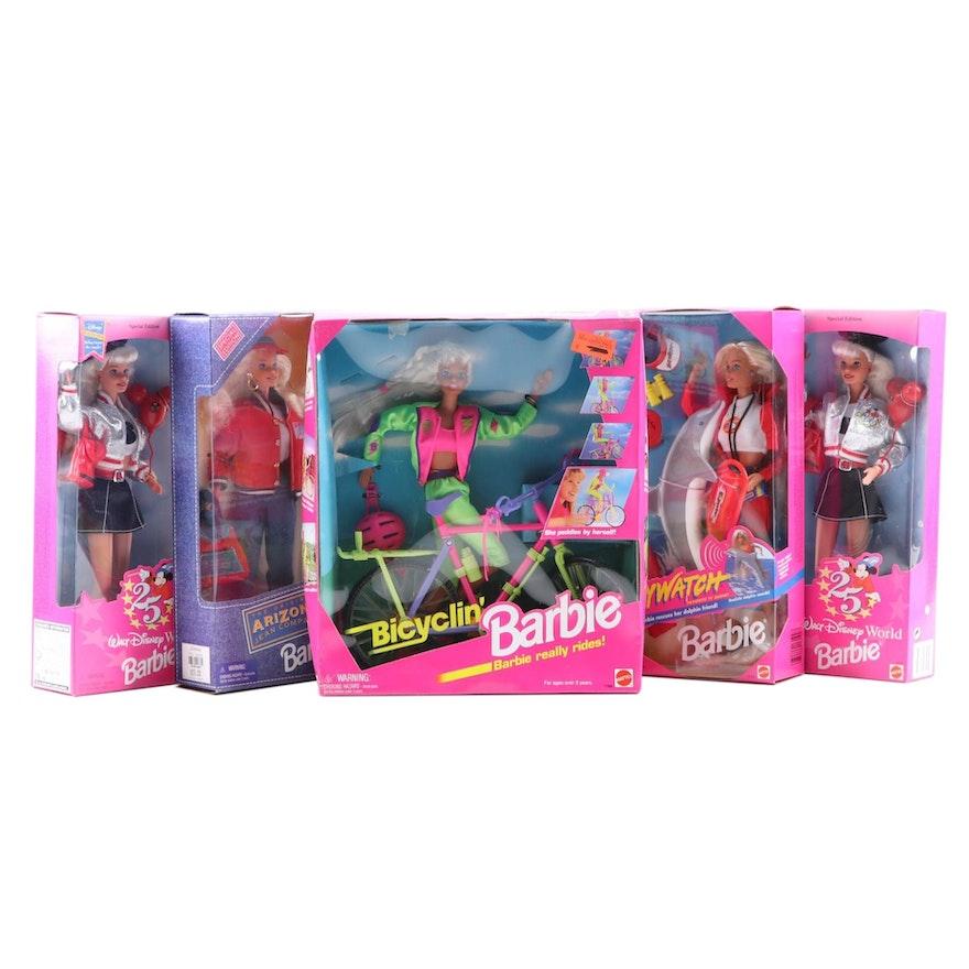 "Mattel ""Walt Disney World Barbie"", ""Baywatch Barbie"" and Other Barbie Dolls"