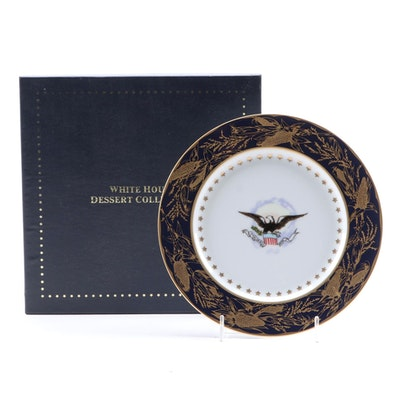 "White House Dessert Collection ""Benjamin Harrison"" Porcelain Plate"