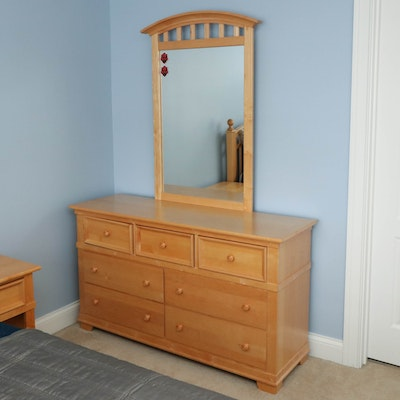 "Stanley Furniture ""Young America"" Maple Seven-Drawer Dresser"