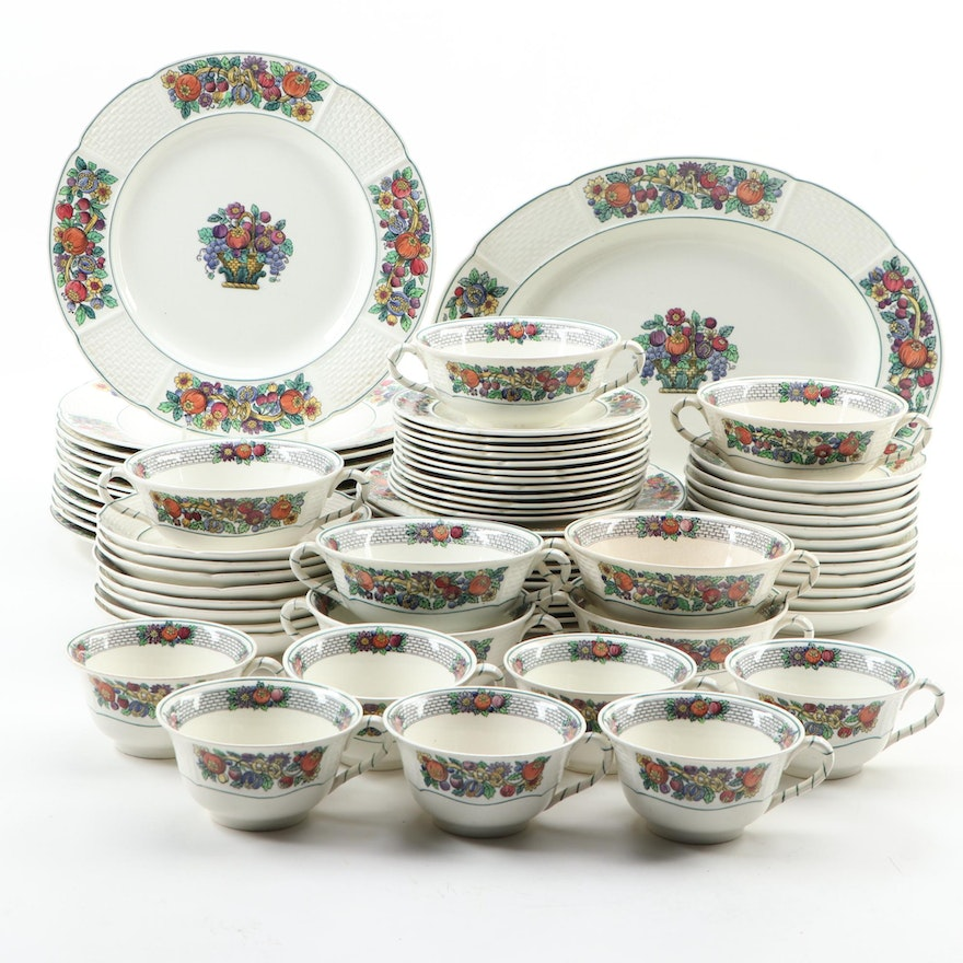 """Wedgwood """"Dover"""" Dinnerware and Serveware, Mid to Late 20th C."""