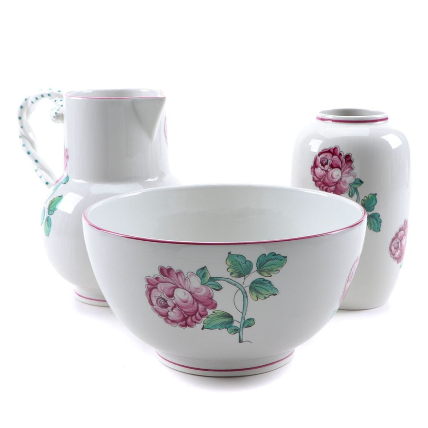 """Tiffany & Co. """"Strasbourg Flowers"""" Serving Bowl, Pitcher, and Vase"""