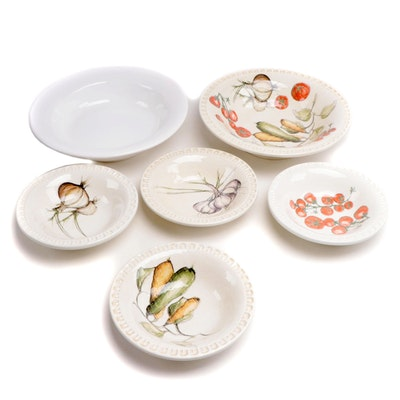 Williams-Sonoma and Other Ceramic Pasta Bowls and Serving Bowls