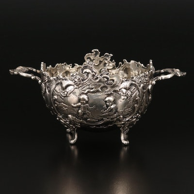 Storck & Sinsheimer 800 Silver Rococo Revival Dish, Late 19th/Early 20th C.