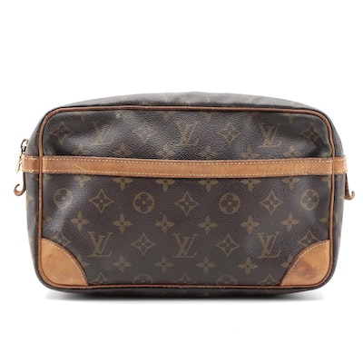 Louis Vuitton Compiegne Case in Monogram Canvas and Leather Trim