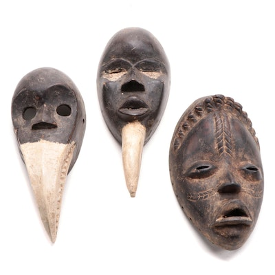 Dan Inspired Wooden Masks, West Africa