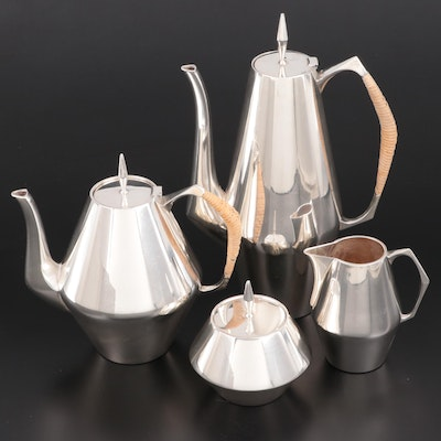 "Reed & Barton ""The Diamond"" Sterling Silver Tea and Coffee Set, Mid-20th Century"
