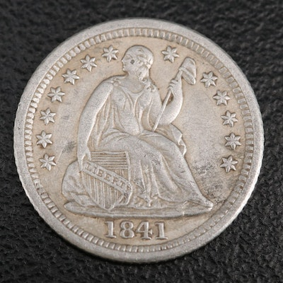 Key Date 1841-O Liberty Seated Silver Half Dime