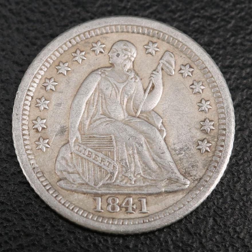 Key Date 1841-O Liberty Seated Silver Half Dime