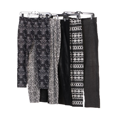 Hue, First Looks, and Other Leggings, in Snake, Geometric and Paisley Prints