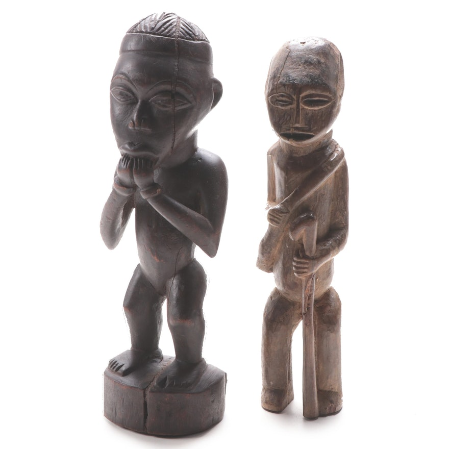 Central African Hand-Carved Wooden Figures