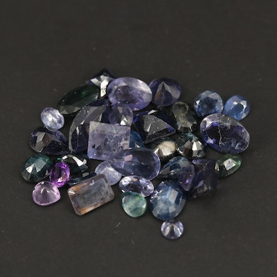 Loose 16.69 CTW Gemstones Including Sapphire, Amethyst and Iolite