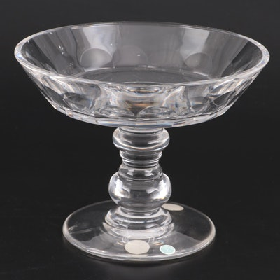 Val St. Lambert Crystal Compote Retailed by Tiffany & Co., Late 20th Century