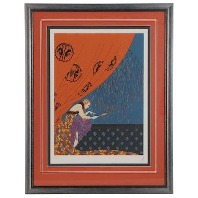 "Erté Serigraph ""Fall,"" 1979"