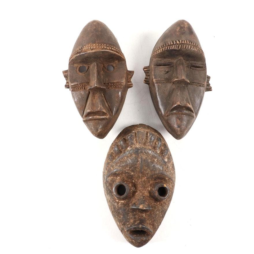 Dan Style Wooden Masks, West Africa