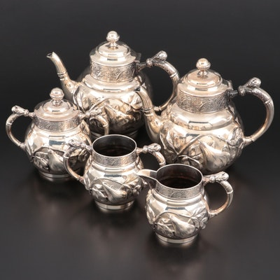Barbour Repoussé Silver Plate Tea Set, Late 19th/Early 20th Century