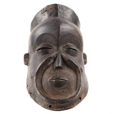 Central African Wooden Helmet Mask