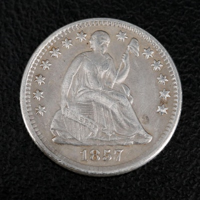 1857 Liberty Seated Silver Half Dime