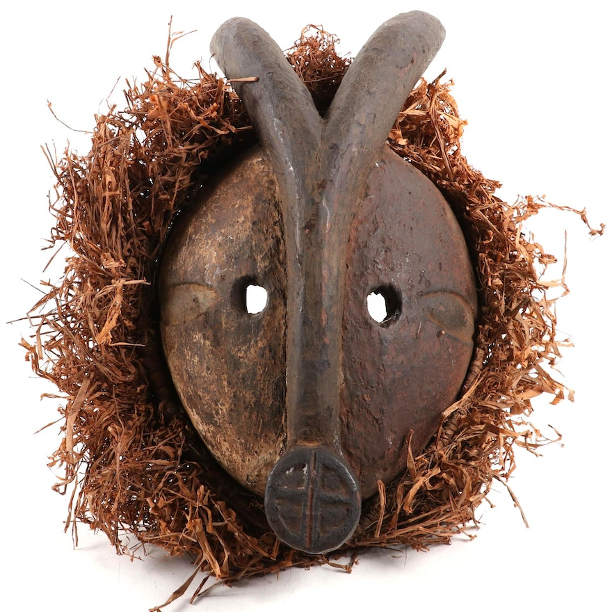 Ogoni Style Carved Wood Animal Mask, Nigeria