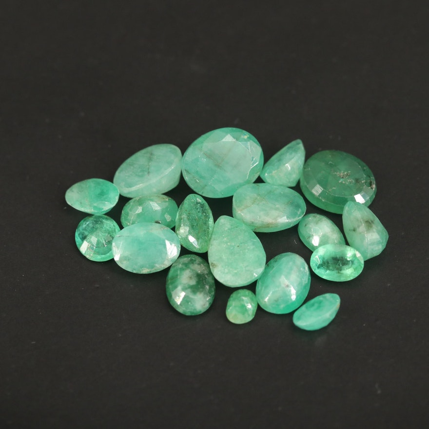 Loose 17.11 CTW Faceted Emeralds
