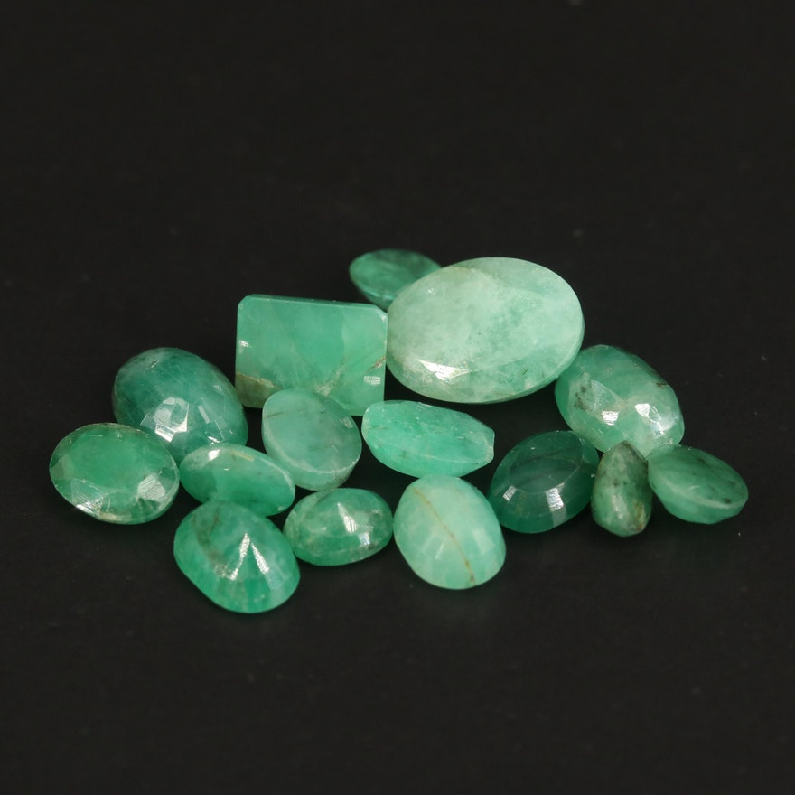 Loose 13.39 CTW Faceted Emeralds