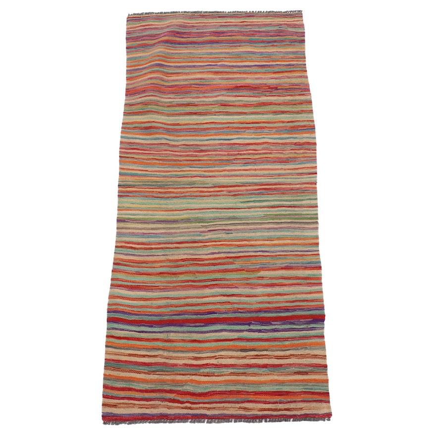 3'0 x 6'6 Handwoven Afghan Kilim Area Rug, Late 20th-21st Century