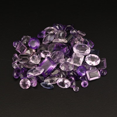 Loose 55.54 CTW Mixed Faceted Amethyst