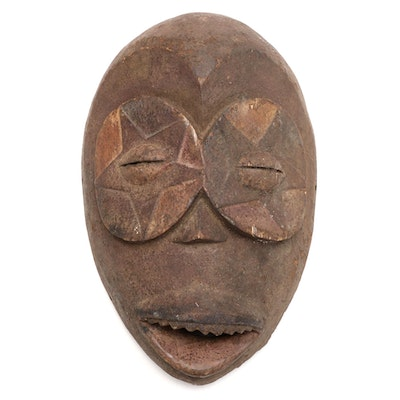 Eket Inspired Wooden Mask, West Africa