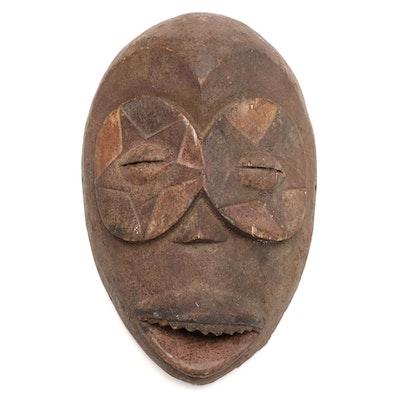 Eket Inspired Wooden Mask, West Africa