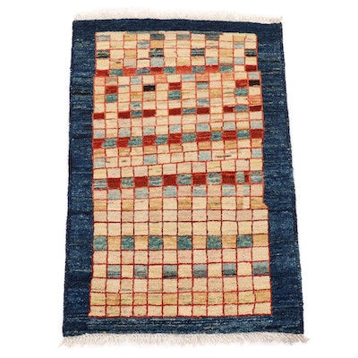 2'1 x 3'2 Hand-Knotted Persian Gabbeh Modern Style Accent Rug