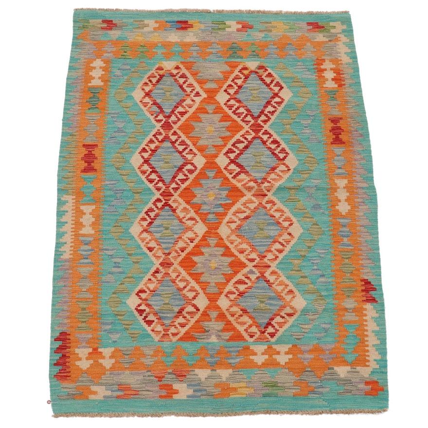 4'4 x 6'0 Handwoven Afghan Kilim Area Rug