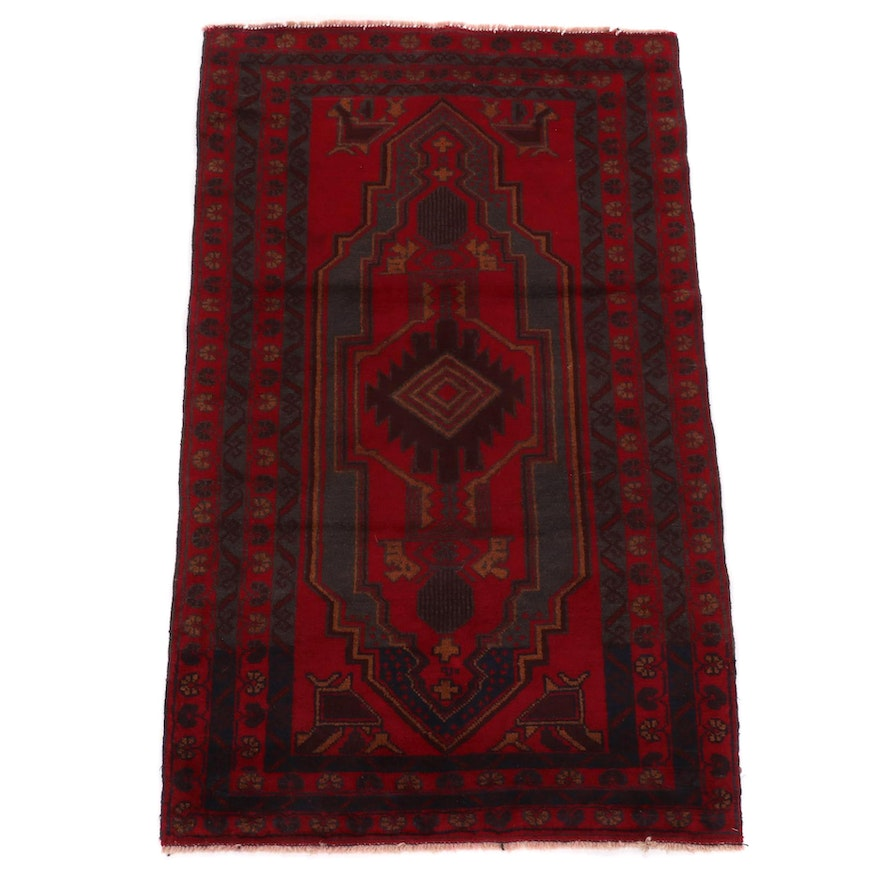 3'0 x 4'11 Hand-Knotted Persian Baluch Accent Rug