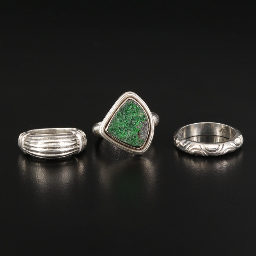 Sterling Silver Rings Featuring Druzy