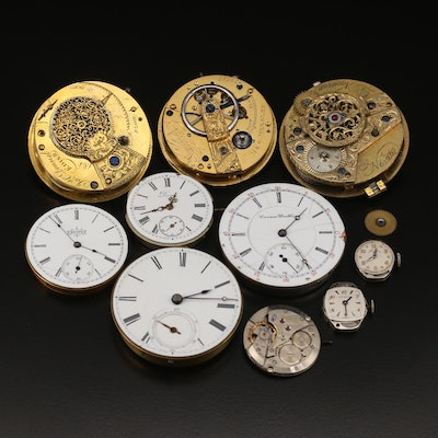Selection of Ten Pocket and Wristwatch Movements